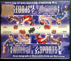 2011 UPPER DECK WORLD OF SPORTS HOBBY BOX THREE AUTOGRAPHS OR MEMORABILIA