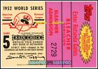 TOPPS 2002 1952 WORLD SERIES REPLICA TICKET GAME 5 NY YANKEES STADIUM DODGERS