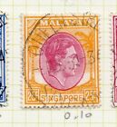 Malaya Singapore 1948 Perf 17.5x18 Early Issue Fine Used 25c. 226415