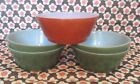 orange Fire King Anchor Hocking soup cereal bowls
