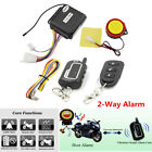 2 Way Motorcycle Scooter Remote Control Security Alarm System Engine Start 125dB