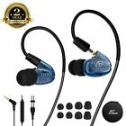 Wired Earbuds In Ear Heaphones With Microphone Removable Cable Blue