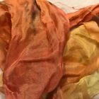 Hand Dyed silk Fabric habotai  5 x 42 inches wide