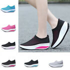Women Shake Shoes Mesh Breathable Platform Sneakers Casual Sport Walking Slip on