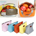 Portable Thermal Insulated Lunch Box Tote Cooler Bag Bento Picnic Storage DX