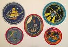 NASA PATCH LOT 5 Space Program  Shuttle STS Mission Crew Iron On Patches