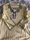 NWT Lilly Pulitzer Cover Up Beaded Tunic Top YELLOW JEWELED Size XS