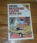Vintage Chiltons Mustang Capri Tune Up Guide and 1979 1982 Repair