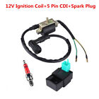 12V Ignition Coil+5 Pin CDI Box+Spark Plug For Chinese Scooter ATV Quad 50-125cc