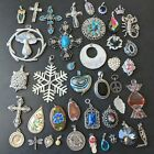 41pc Vintage Necklace Pendant Lot MEXICO SARAH COV CORO Cross Flower Crystal PP2