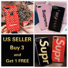 Supreme Phone case Pink Black Red for iPhone X 6 7 8 Plus