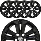 fits 2014 16 Nissan Rogue SV 17 Black Wheel Skins Hubcaps Full Alloy Rim Covers