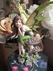Amy Brown Thinking of You Elfe Faery Fairy Figurine on a Mushroom NEW IN BOX