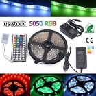 Multi color 1M 30M LED Strip light RGB 5050 SMD 44 Key Remote US Power Full Kit