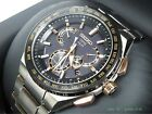 SEIKO ASTRON SBXB125 GPS Solar Executive Line 8X Series Dual Time Sapphire glass