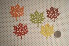 30 LARGE AUTUMN LEAF LEAVES IN 5 FALL COLORS DIE CUTS PUNCHES CONFETTI