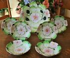 Vintage Hand Painted Berry Bowl Set w/6 Individual Bowls