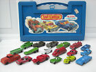 Lot of 18 Vintage Tootsietoy Cars  Trucks in Old Matchbox Case