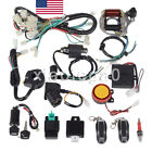 CDI Wiring Harness 50cc 70cc 110cc 125cc + Remote Start Switch for Electrics ATV