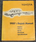 1988 1/2 Toyota Corolla All-Trac 4WD Station Wagon Service Manual