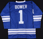 Johnny Bower Signed Toronto Maple Leafs Jersey Inscribed