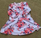 Euc Pumpkin Patch Baby Girl light blue with red flowers pattern Size is 6 12