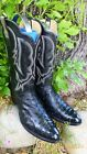 """ELI RIOS OF MRECEDES """"FULL QUILL"""" OSTRICH👢EXOTIC RARE WESTERN COWBOY BOOT 13 EE"""