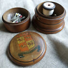 RARE ANTIQUE SEWING BOX TOWER TREEN REEL SPOOL HOLDER NOT SPICE WELSH