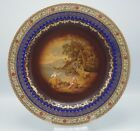 ANTIQUE BOHEMIA VIENNA STYLE COBALT SCENIC LARGE PLATE