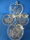 4 Vintage Hazel Atlas Apple Blossom Pattern  Snack Sets 4 Plates