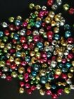 Vintage 200+ Lot Loose Mercury Glass Christmas Beads for Garland or Icicles 4