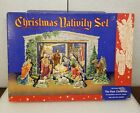 Vintage Christmas Nativity Cardboard Cut Out Set