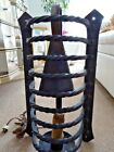 GOTHIC antique CAST IRON WALL SCONCE salvaged medieval CAGED ARCHITECTURAL 21