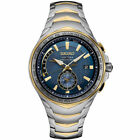 Seiko Mens Coutura Radio Sync Solar Watch in Two Tone Silver  Gold SSG020