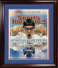Michael Phelps Signed 16x20 2008 Olympics SI Cover photo framed autograph COA