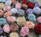 40pcs Ribbon Flowers Bows carnation Appliques sewing craft wedding lots A601