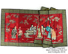 Chinese Red Silk Embroidered Textile Panel with Eight Immortals, 20th Century