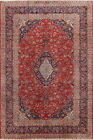 Red Floral 8x12 Kashan Antique Persian Area Rug Medallion Oriental Carpet Wool