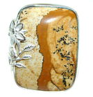 Jasper Ring size: 7 - Adjustable 925 Sterling Silver + Free Shipping  by SilverR