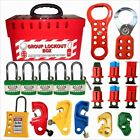 Electrical Group Lockout Tagout Box Kit Jecket Long Shackle Padlocks MCB Locks