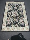 Hand hooked Chain Stitch rug made in India 4' X 6' 70% Wool 30% Cotton