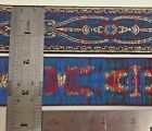 15 Wide Gold Metallic Jacquard Sewing Trim with Royal Blue Background 29 yards