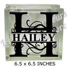 LETTER H  NAME VINYL DECAL STICKER FOR 8 GLASS BLOCK DIY CRAFTS CUSTOM MADE