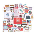 65pcs Vacation Travel Die Cuts Stickers For Scrapbooking Planner Card Making HU