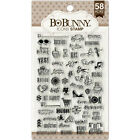 BoBunny PLANNER ICONS 58 CLEAR ACRYLIC STAMPS scrapbooking