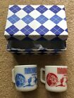 Vintage 2 Ranger Joe Ranch Mugs 1 Red 1 Blue in gift box MINT