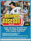 2018 Topps Archives Baseball Hobby Box (24 Packs 8 Cards: 2 Autographs)