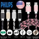 Type C USB Fast Charging Data Sync Charger Cable FOR Various Philips SmartPhones