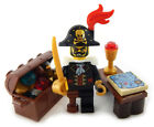 NEW LEGO PIRATE CAPTAIN MINIFIG LOT map treasure gold jewels minifigure figure