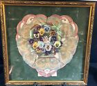 VICTORIAN VALENTINE--FRAMED--SO LOVELY--# 1 OF 2 TO BE LISTED--BUY IT NOW!